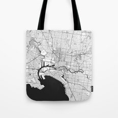 Melbourne City Map Gray Tote Bag