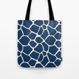 Giraffe Pattern Animal Print (navy) Tote Bag