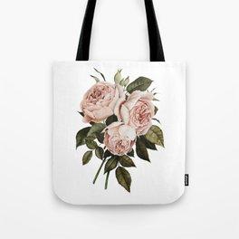 Three English Roses Tote Bag