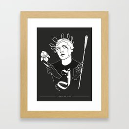 Shadow Alphabet: Joan of Arc Framed Art Print