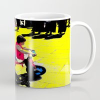 cycling Mugs featuring Cycling by lookiz