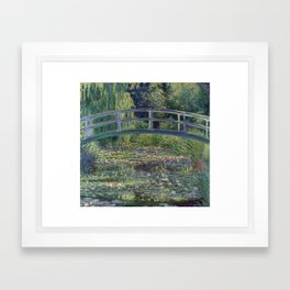 Water Lilies and the Japanese Bridge by Claude Monet Framed Art Print