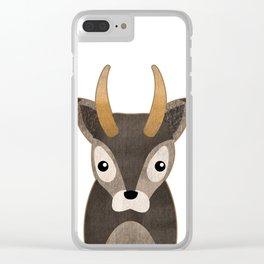 Baby Deer Print Clear iPhone Case