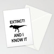 Extinct T-Rex Stationery Cards