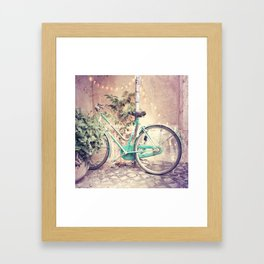 Bicycle Lights Framed Art Print