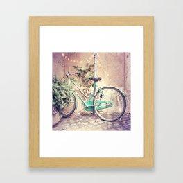 Bicycle Lights Framed Art Print