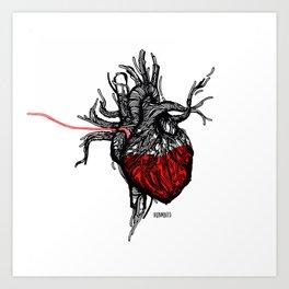 Wired Heart Art Print