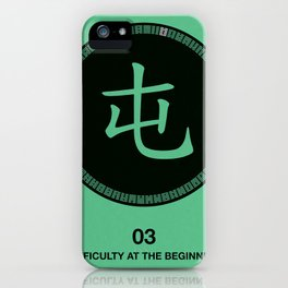 I Ching hexagrams 3, difficulty at the beginning iPhone Case