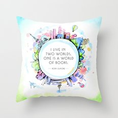 Rory Gilmore Bookish World Throw Pillow
