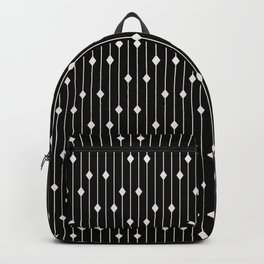 Minimal neutral diamonds and lines on black Backpack