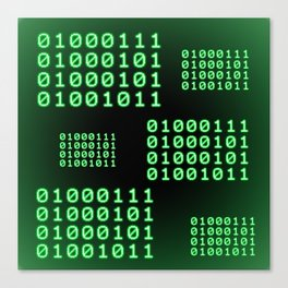 Binary code for GEEK Canvas Print