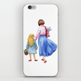As mother as daughter iPhone Skin
