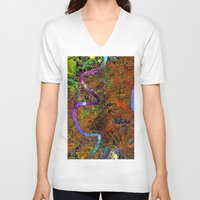 new orleans V-neck T-shirts featuring new orleans by donphil
