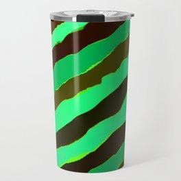 Mint Copper Patina Stripes Travel Mug