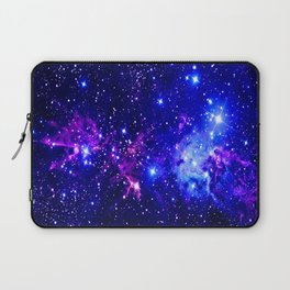 Fox Fur Nebula Galaxy blue purple Laptop Sleeve
