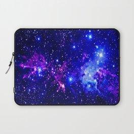 Fox Fur Nebula Galaxy blue purple Laptop Sleeve