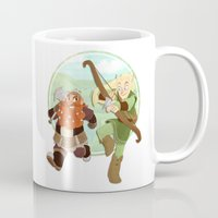 legolas Mugs featuring LotR- Legolas & Gimli by Firehouselight