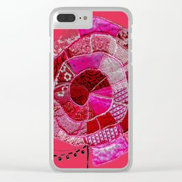 a rose is a rose Clear iPhone Case