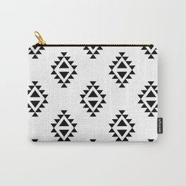 Linocut southwest minimal pattern black and white print scandinavian minimalism Carry-All Pouch