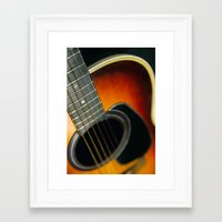 guitar Framed Art Prints featuring Guitar by Bruce Stanfield