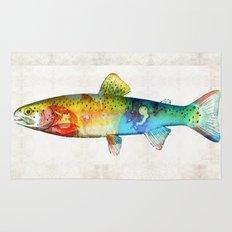Rainbow Trout Art by Sharon Cummings Rug