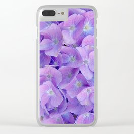 Hydrangea lilac Clear iPhone Case