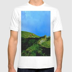 The Rolling Hills of County Clare Mens Fitted Tee White MEDIUM