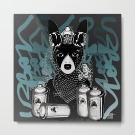 RAD RIDE and SPRAY CANS Metal Print