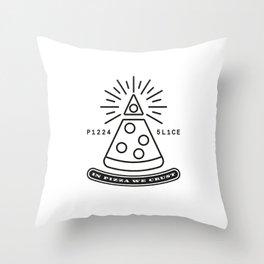 Dollar Slice WHITE Throw Pillow