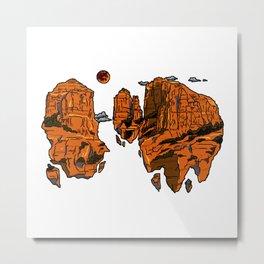 floating sedona mountain ridge Metal Print