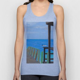 Lookout along Grand Case Beach Unisex Tank Top