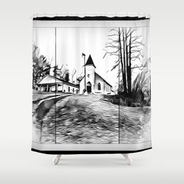 There's A Church In The Valley Shower Curtain