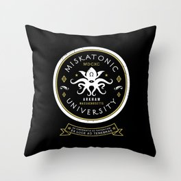 Miskatonic University  Throw Pillow