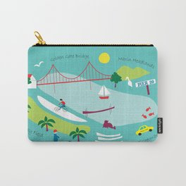 San Francisco, California - Collage Illustration by Loose Petals Carry-All Pouch