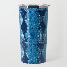 Cyanotype Diamonds Travel Mug