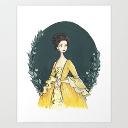 Claire Fraser Art Print
