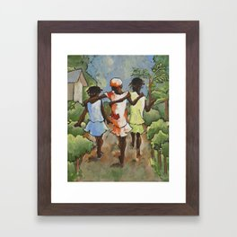 three sisters | Haiti | by MN artisit Sue Kemnitz Framed Art Print