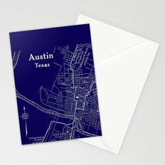 Vintage Austin Blue Stationery Cards