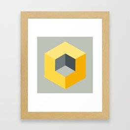 'Iso-Cube Yellow' Framed Art Print