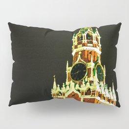 Spassky - Savior - Tower Of Moscow Kremlin At Night Pillow Sham