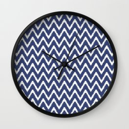Blueberry Southern Cottage Ikat Chevons Wall Clock