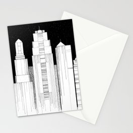 Kansas City Skyline at Night Stationery Cards