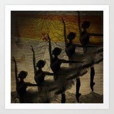 Bailarina, diz pra mim, cadê você? Art Print