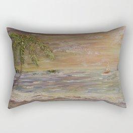 Acrylic textured Painting Rectangular Pillow