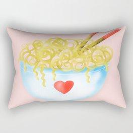 Bowl of Ramen with Chopsticks | If Ramen You is Wrong Word Art...on Pink Rectangular Pillow