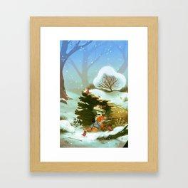 Givre Framed Art Print