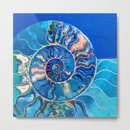 mysteries of the universe: madagascar ammonite Metal Print