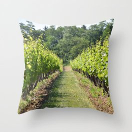 Vineyard Path Throw Pillow