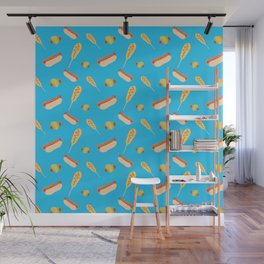 Different Ways to Eat a Hot Dog Wall Mural