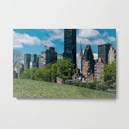 Midtown apartment buildings on east riverside view from Roosevelt Island Metal Print